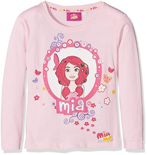 MIA AND ME Rainbow Mia T-Shirt Manica Lunga-Originale, Maglietta Bambina, Rosa, 5