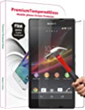 PThink 0.3mm Ultra-thin Tempered Glass Screen Protector for Sony Xperia Z L36H/C6602/C6603 with 9H Hardness/Perfect Anti-scratch/Shatterproof/Fingerprint & water & oil resistant (Sony Xperia Z L36H C6602/C6603)