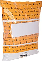 Amazon.in Branded Premium Polybag with Document Pouch (Size -14 Inches X 12 Inches, Count - 100 Polybags)