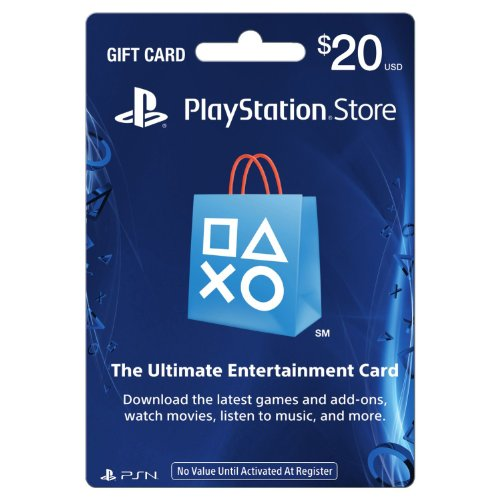 PlayStation store gift card 20 $-North American Edition