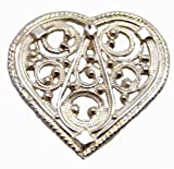 Sterling Silver Filigree Marit's Heart Scandinavian Pendant