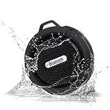 waterproof Bluetooth Speaker Shower, portable Wireless Bluetooth With Mic Suction Cup, for bathroom Hands-Free Speakerphone beach Bluetooth speaker