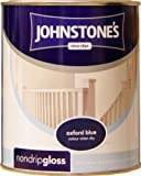 Johnstones No Ordinary Paint One Coat Non Drip Oil Based Gloss Oxford Blue 750ml