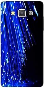 Snoogg fiber optics Hard Back Case Cover Shield For Samsung Galaxy A7
