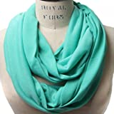 Scarfands Light Weight Infinity Scarf with Solid Colors or Chevron Print