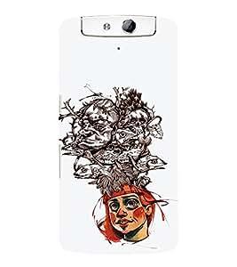 EPICCASE Crazy hat Mobile Back Case Cover For OPPO N1 (Designer Case)