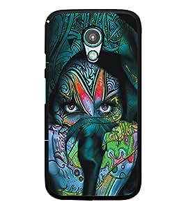 PrintDhaba Eyes D-5449 Back Case Cover for MOTOROLA MOTO G2 (Multi-Coloured)