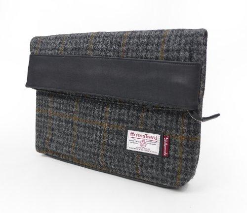 ハリスツイード クラッチバッグ 17016500 Harris Tweed INDISPENSABLE インディスペンサブル (ブラック)