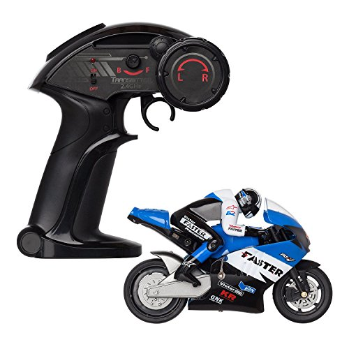 RC Motorcycle - 2.4Ghz 4 Channel Remote Control and Built-in Gyroscope - 1:16 Scale (Top Gear Aston Martin compare prices)