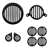 Autofy Plastic Grill for Royal Enfield Bullet Classic 350 & 500 (Black, Set of 8)