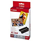 Canon 7739A001|KC-36 IP Inking Kit + InkJet-Papier Credit Card, 36 Seiten f�r Canon Card Photo PTR CP 100 kompatibel zu Selphy CP 600, Card Photo Printer CP 220, Selphy CP 220, Selphy CP 510, Selphy CP 710, Card Photo Printer CP 330, Card Photo Printer CP 100, Card Photo Printer CP 200, Card Photo Printer CP 300, Selphy CP 330, Selphy CP 790, Selphy CP 760, Selphy CP 770, Selphy CP 720, Selphy CP 730, Selphy CP 810, Selphy CP 740, Selphy CP 750, Selphy CP 400, Selphy CP 500, Selphy CP 780, Selph