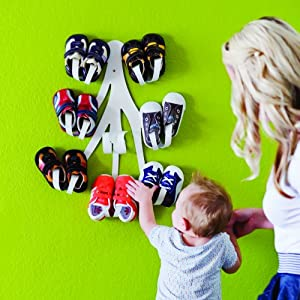 Boon Curl Baby Shoe Rack - Organize and display those adorable shoes. Holds eight pairs of shoes.