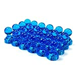 Anfukon 30 Pcs Blue Magnetic Push Pins Perfect as Whiteboard Magnets Refrigerator Magnets Maps Magnets and Calendar Magnets in Office Kitchen (Color: Blue)