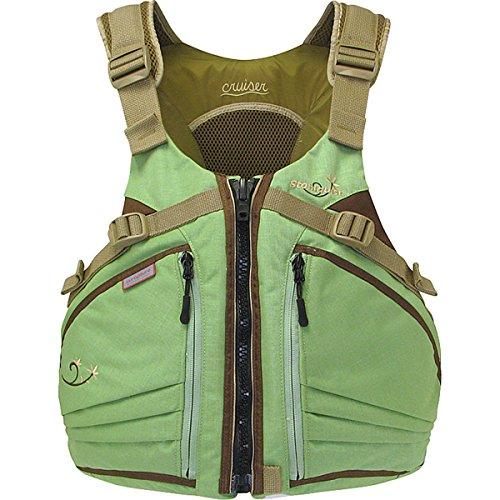 Stohlquist Women's Cruiser Life Jacket/Personal Floatation Device (Sage/Sand, Plus)