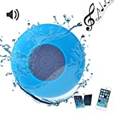 Western-Waterproof Handsfree Bluetooth V3.0 EDR Speaker w/ Built-in Microphone for Apple iPhone 4 4S 5 5S 5C Samsung HTC Blackberry Blue