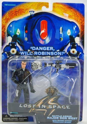 Danger Will Robinson Lost in Space - Battle Armor Major Don West Figure - W/ Magnet Attack Power Leap Spiders by Trendmasters - 1