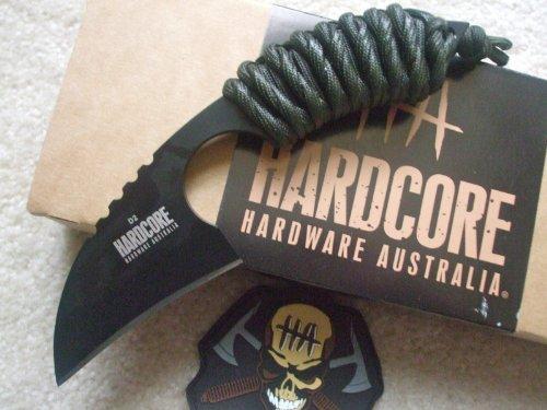 Hardcore Hardware Australia Lfk01 Tactical Knife Od Green Para-Cord Handle