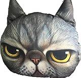 【SCGEHA】リアルプリント 猫 ねこ ネコ 顔 カー 車 マイカー ネックパッド ネックレスト ヘッドレスト クッション 動物 アニマル フォト 愛車にインパクト大!(BSIK)