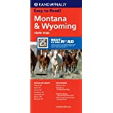 Rand McNally Easy to Read Montana/ Wyoming State Map