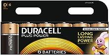 Comprar Duracell Plus Power - Pila alcalina (tamaño D, paquete de 6 unidades)