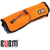 BUBM Universal Cable Pens Organizer Stable Baby Healthcare Grooming Kit Dark Blue Orange L