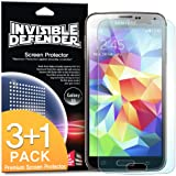 Galaxy S5 Screen Protector - Invisible Defender [3+1 Free/MAX HD CLARITY][Lifetime Warranty] Perfect Touch Precision High Definition (HD) Clarity Film (4-Pack) for Samsung Galaxy S5
