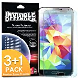 [3+1 Free/MAX HD CLARITY] Invisible Defender - Samsung Galaxy S5 Screen Protector [Lifetime Warranty][Perfect Touch Precision]**Premium JAPANESE FILM** High Definition (HD) Clarity Film The Worlds Best Selling Premium EXTREME CLEAR Screen Protector for Samsung Galaxy S5 / Galaxy SV / Galaxy S V (2014)