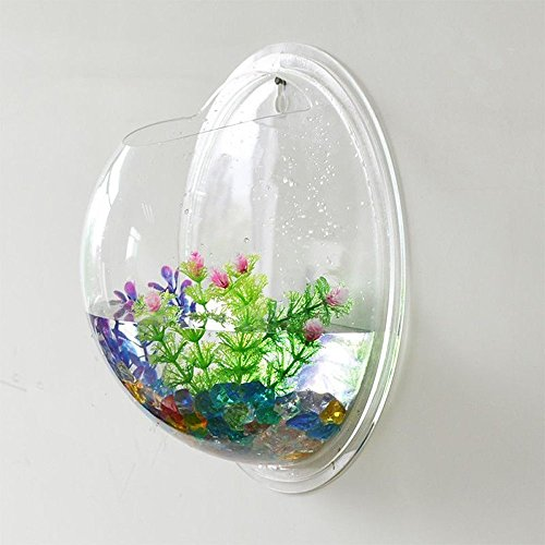 Sunshinetimes Home Decoration Pot Fish Bubble Wall Mounted Acrylic Fish Bowl Fish Tank Aquarium