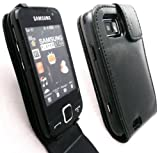 EMARTBUY SAMSUNG S5600 PRESTON BLACK FLIP CASE/COVER/POUCH