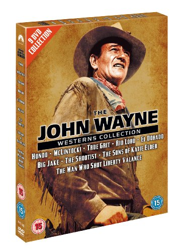 The John Wayne Westerns Collection (Hondo, Mclintock!, True Grit, Rio Lobo, El Dorado, Big Jake, The Shootist, The Sons of Katie Elder, The Man Who Shot Liberty Valance) [DVD]