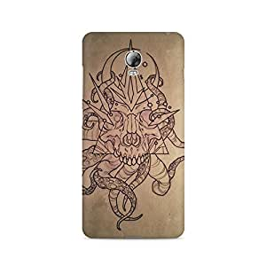 Mobicture Skull Abstract Premium Printed Case For Lenovo Vibe P1