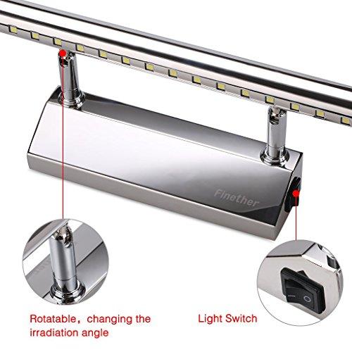 Finether l mpara led del espejo del ba o 7w luz blanco - Lamparas led para banos ...