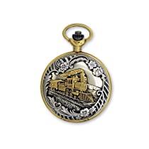 JD Manoir Two-tone White Dial Quartz Steamer Pocket Watch