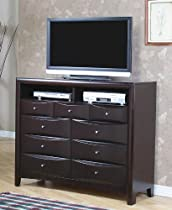 Big Sale Coaster TV Dresser Stand Contemporary Style in Cappuccino Finish