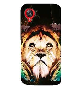 PRINTSWAG LION Designer Back Cover Case for LG GOOGLE NEXUS 5