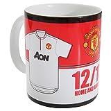 Keramiktasse mit Manchester United FC Design (Einheitsgröße) (Rot/Weiß/Schwarz)