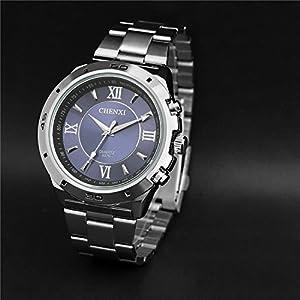 Korean Casual Multifunctional Luminous Sport Watch,Roman Numerals Waterproof Quartz Watch For Men-Blue