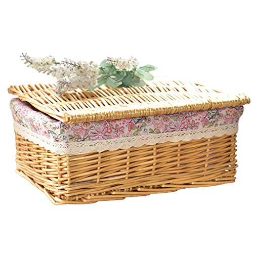 Cute Small Wicker Baskets With Lids - cover