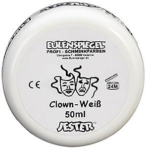 Eulenspiegel  Schminke Clown, 50 ml, weiß