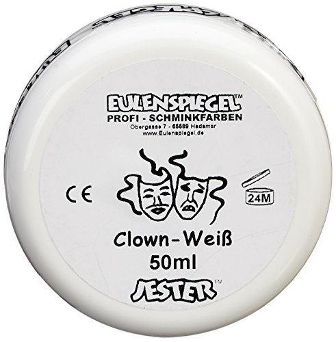 Eulenspiegel 500507 - Schminke Clown, 50 ml, weiß