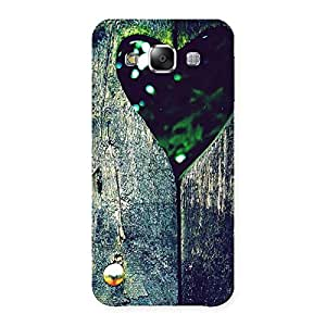 Wooden Vintage Print Back Case Cover for Samsung Galaxy E5