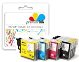 Premier Ink 2 Sets + 2 Extra Black - 10X Compatible Ink Cartridges To Brother Lc985 & Lc39 - 4X Black + 2X Cyan + 2X Magenta + 2X Yellow For Brother Dcp-J125 Dcp-J315W Dcp-J415W Dcp-J515W Mfc-J220 Mfc-J265W Mfc-J410, High Quality Ink ! Insert And Print!