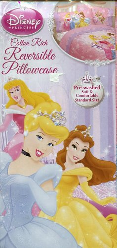 Disney Princess Loving Hearts Reversible Pillowcase