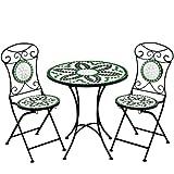 Mosaiksitzgarnitur-Flora-2x-Stuhl-1-Tisch-Sitzgruppe-Mosaiktisch-Mosaikstuhl-Gartentisch