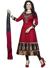 Jay Varudi Creation Women's Multi-Coloured American Crape Unstiched Printed Dress Material ( Salwar+Bottam+Duptta ) - B071KQ47RP