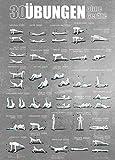 sportboXX Poster DIN A1 mit Übungen ohne Geräte, Bauchtrainer, Workout für zuhause