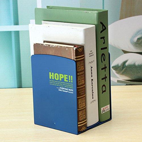 KINGSO Plastic Nonskid Decorative Bookends Book Organizer Office Home Desk Holder 12.5x8.5x16.5cm