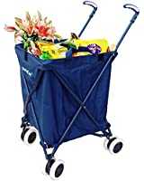 Folding Shopping Cart - Versacart Utility Cart - Transport Up to 120 Pounds (Water-Resistant Heavy Duty Canvas)