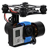 DJI Phantom Brushless Gimbal Aluminum Camera Mount with Motor & Controller for GoPro Hero 1 / 2 / 3 FPV Aerial Photography (Black)