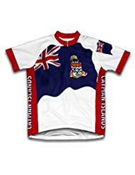 Cayman Islands Flag Short Sleeve Cycling Jersey for Women